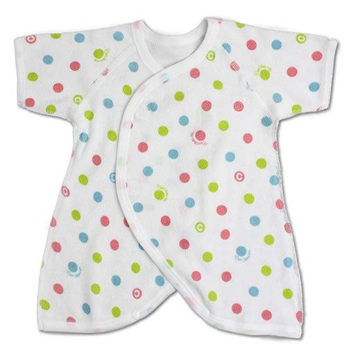 【低出生体重児 低体重児 未熟児】コンビ肌着 綿パイル ピンク 水玉柄 プリミー 40cm~45cm 新生児 通年商品