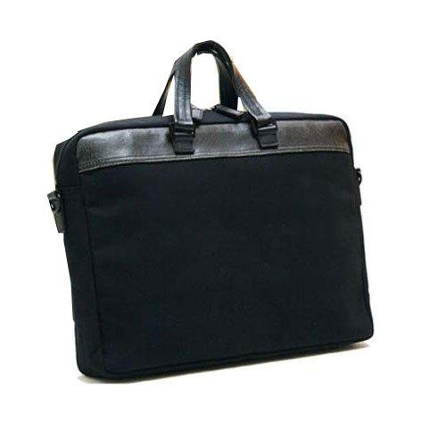 ノーブランド品 日本製 豊岡産(木和田)織人帆布ビジネスカジュアルバッグ 2WAY仕様 A4ファイル対応 ブラック
