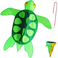 zhongran Kite Turtle Kite for Kids 41インチシングルラインEasy Flyer 3d Kite with Long Tail, One of the Best凧のビーチ、公園、ファミリーゲーム