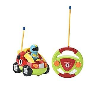 Lidodo カートンR/Cレース車 ラジオコントロール幼児コントロール玩具 漫画リモコン玩具車(英語パキング)