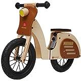 自転車 自転車バランスのとれた幼児のスクーター子供のバランスのバイクペダルなし調整可能なシートハンドル2-6歳に適し玩具ギフト (Color : Brown, Size : 81*36*56cm)