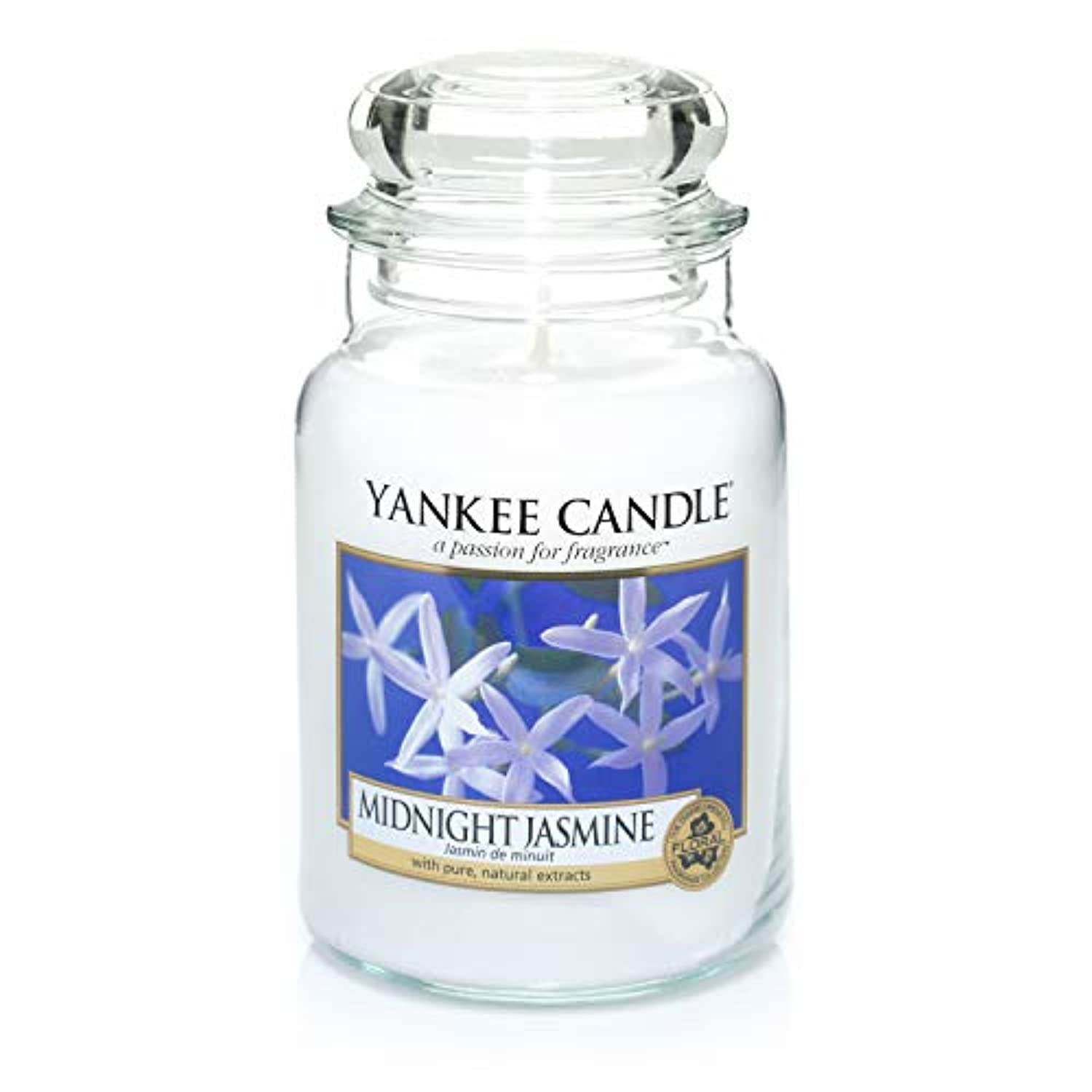 民間人ラベルファンドYankee Candle Large Jar Candle, Midnight Jasmine by Yankee Candle
