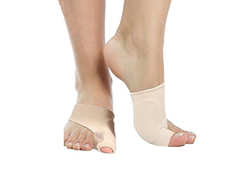 ジレンマサッカー南極5組の腱膜矯正装置、つま先セパレータースペーサー矯正器で外反母趾の痛みを治療する、テイラーズバニオン、足の親指関節、添え字外科手術の治療