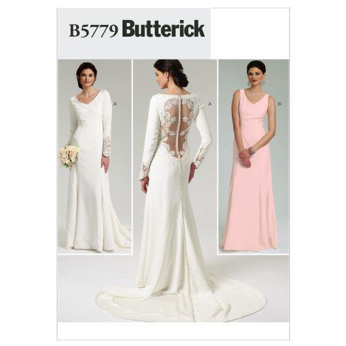 【Butterick】バックアクセント ウェディングドレス 型紙 サイズ:US4-6-8-10-12