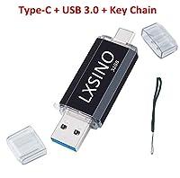 LXSINO 32GB USBメモリ 3.0 フラッシュドライブ OTG Type Cメモリ/USB Cメモリ3.1/ USB 3.1 + USB 3.0 デュアルメモリ メモリースティック 高速データ転送