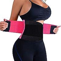 QEESMEI Waist Trainer Belt for Women & Man - Waist Cincher Trimmer Weight Loss Ab Belt - Slimming Body Shaper Belt