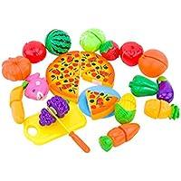 24pcsセットキッチンおもちゃFun Cutting Fruits野菜Pretend Foodプレイセットforキッズ、早期教育hand-eyeトレーニングCuttingおもちゃベビーキッズ子供用