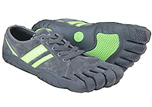 (AVIR)迷彩 ファイブフィンガーズ シューズ 5本指シューズ(5本指ソックスセット)登山 マラソン ロッククライミング F264 (GRAY/GREEN, 41 約25.5cm) [並行輸入品]