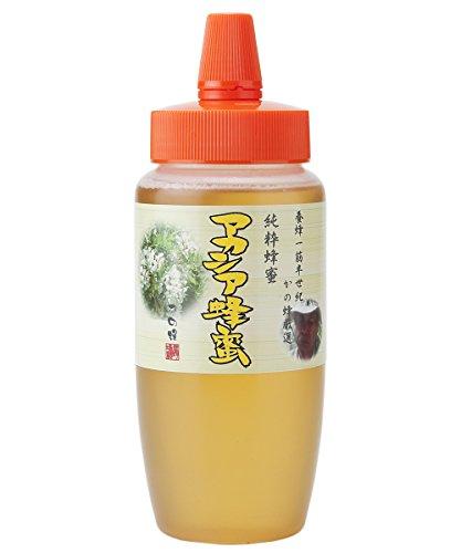 はちみつ 専門店【かの蜂】 厳選 中国産 アカシア 蜂蜜 500g 純粋 蜂蜜 (とんがり容器)