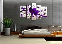 5ピースキャンバス絵画現代絵壁アートハートインテリア用リビングルーム-40×60 40×80 40×100センチなしフレーム