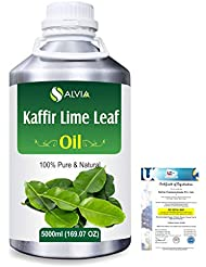 Kaffir Lime Leaf (Citrus Hystrix) 100% Natural Pure Essential Oil 5000ml/169fl.oz.