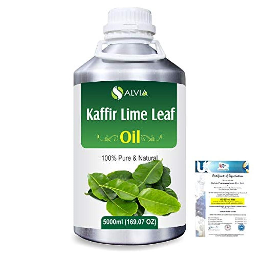 移住する授業料少数Kaffir Lime Leaf (Citrus Hystrix) 100% Natural Pure Essential Oil 5000ml/169fl.oz.