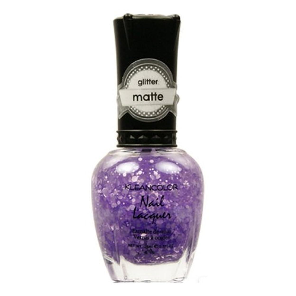 ブロッサム挑発するギャングKLEANCOLOR Glitter Matte Nail Lacquer - Playful Lavender (並行輸入品)
