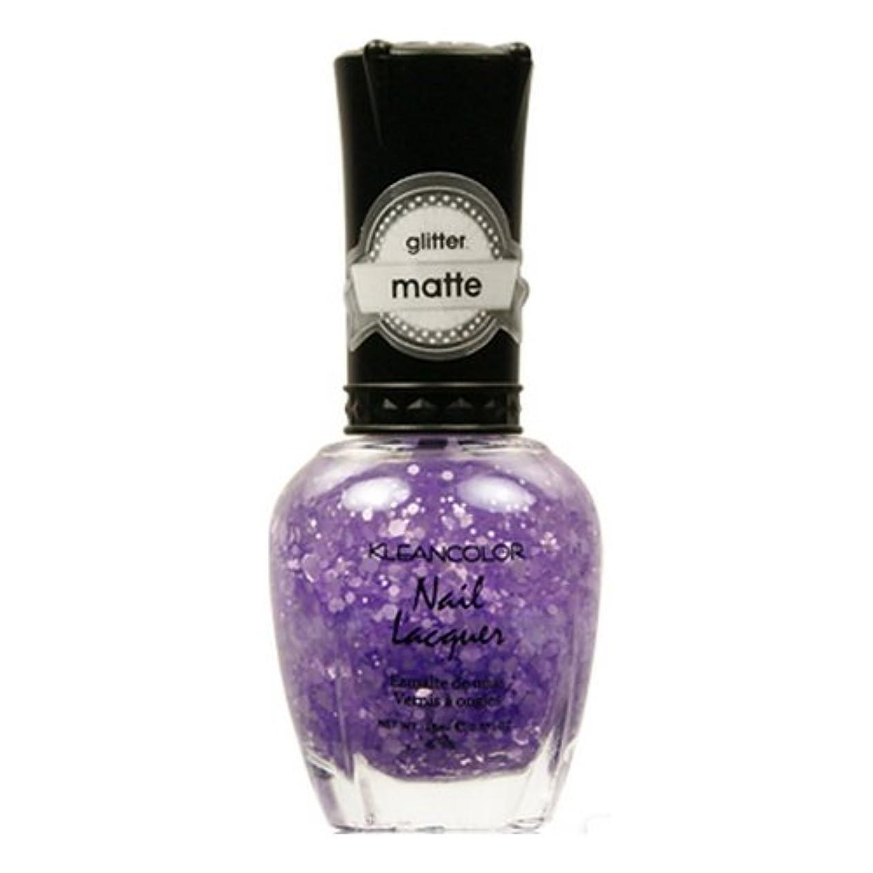 ライオンとにかく幸運なことにKLEANCOLOR Glitter Matte Nail Lacquer - Playful Lavender (並行輸入品)