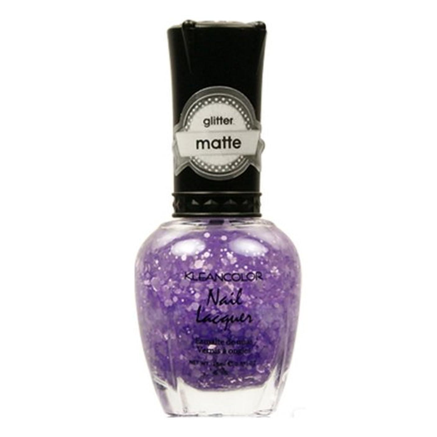 無許可第二カートン(3 Pack) KLEANCOLOR Glitter Matte Nail Lacquer - Playful Lavender (並行輸入品)