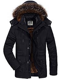 JOSCA モッズコート メンズ ダウンジャケット コート 中綿入れ フード付き ファー付き 裏起毛 厚手 防寒防風 M-6XL大きいサイズ アウター