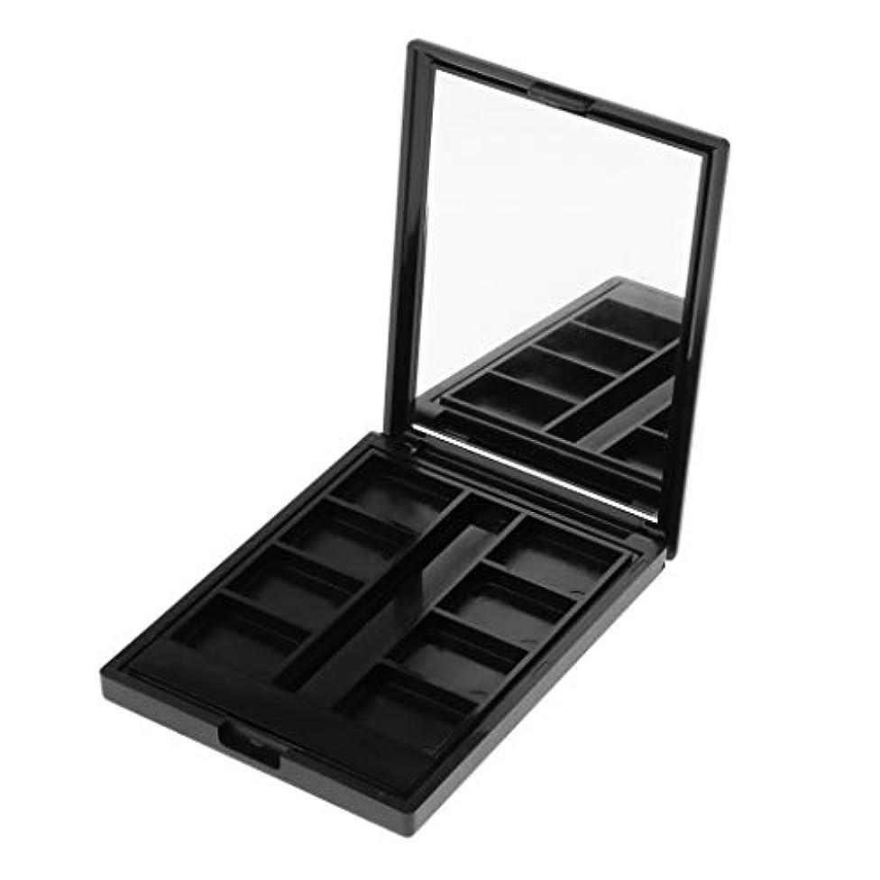 型カフェ助言Sharplace 空ケース メイクアップパレット リップグロス コスメ 手作り収納ケーキ DIY 2タイプ選べ - 8グリッド