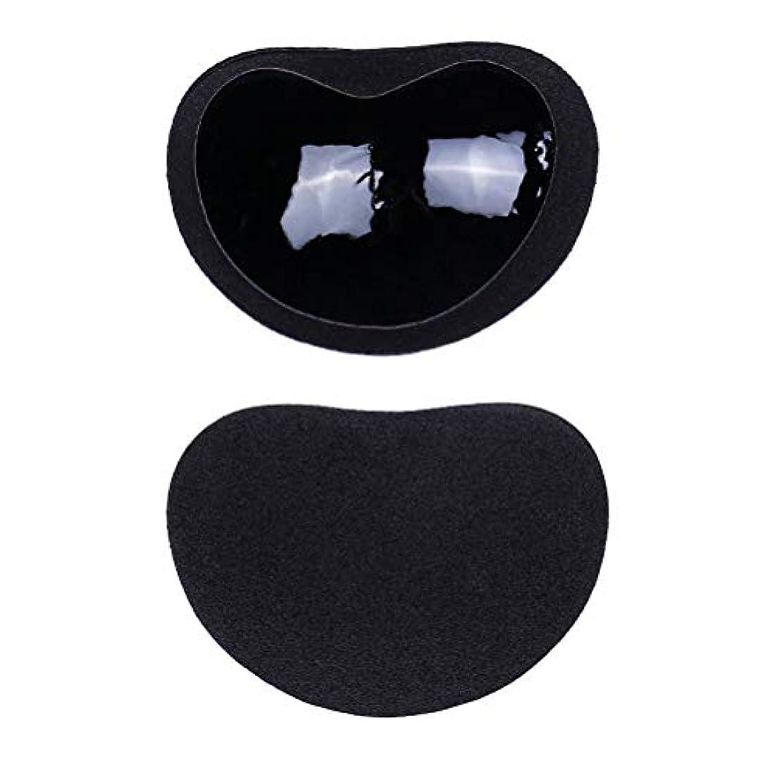 ロンドン天才実際のHealifty ニップルカバー1ペアストラップレス粘着性のある粘着性のあるブラのシリコーンのニップルは見えないブラニップルのコンシーラーのパティをカバーします(黒)