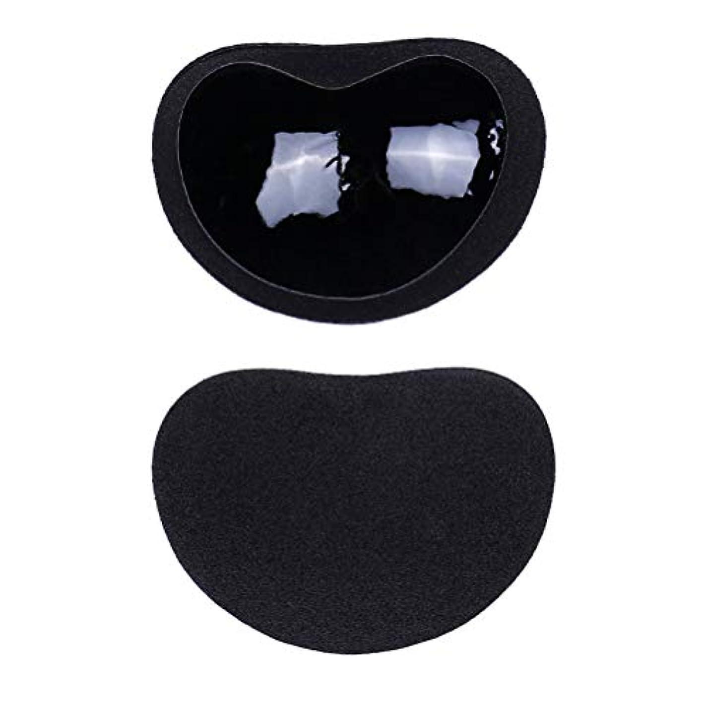 司書フルーティー親指Healifty ニップルカバー1ペアストラップレス粘着性のある粘着性のあるブラのシリコーンのニップルは見えないブラニップルのコンシーラーのパティをカバーします(黒)
