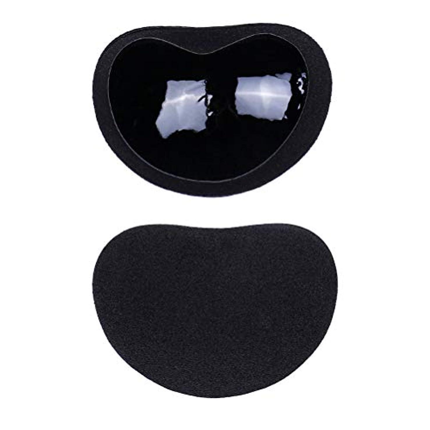 会う摩擦座るHealifty ニップルカバー1ペアストラップレス粘着性のある粘着性のあるブラのシリコーンのニップルは見えないブラニップルのコンシーラーのパティをカバーします(黒)
