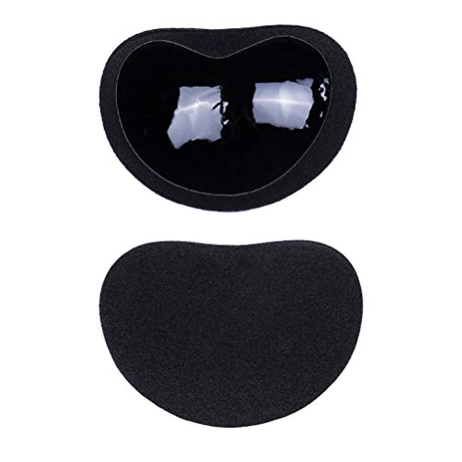 姉妹シリング工業化するHealifty ニップルカバー1ペアストラップレス粘着性のある粘着性のあるブラのシリコーンのニップルは見えないブラニップルのコンシーラーのパティをカバーします(黒)