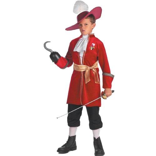 フック船長 コスチューム ディズニー 子供 衣装 コスプレ ピーターパン 海賊 悪者 悪役 男の子 ヴィランズ 悪役 XSサイズ