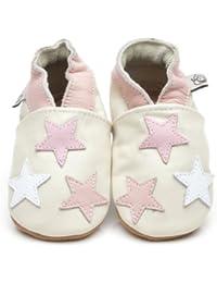 Soft Leather Baby Shoes Little Stars Pink [ソフトレザーベビーシューズリトルスターピンク] 2-3 years (16 cm)