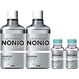【Amazon.co.jp限定】 NONIO(ノニオ) プラス ホワイトニング [医薬部外品] デンタルリンス セット 600ml×2+ミニリンス 80ml×2