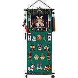 五月人形 室内用鯉のぼり 端午の五段飾り 桃太郎 タペストリー(高さ77cm)