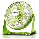 大型7インチのUSBファンミニファン小型ファンミュートUSBファン小型ファンのオフィス (色 : 緑)