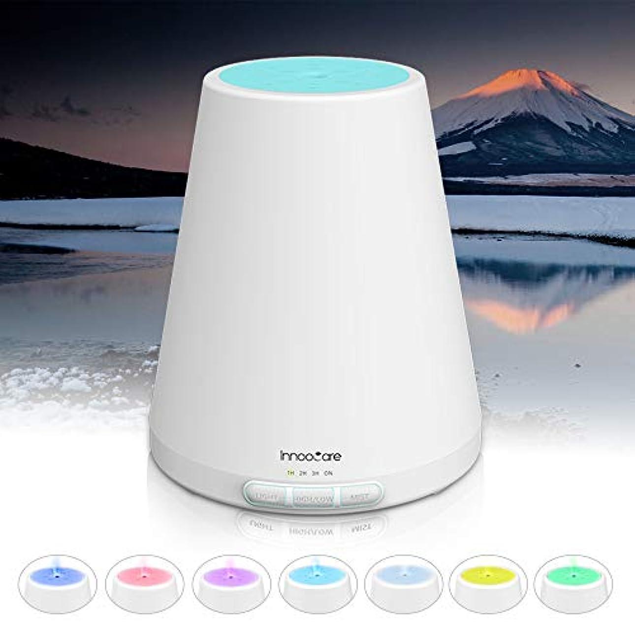 池勝つコンパスアロマディフューザー 300ml, ディフューザー アロマ加湿器, アロマでぃふゅーざー超音波 空気清浄機 7色変換LED