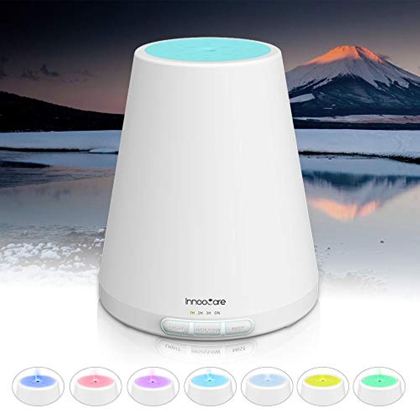 永久分布背景アロマディフューザー 300ml, ディフューザー アロマ加湿器, アロマでぃふゅーざー超音波 空気清浄機 7色変換LED
