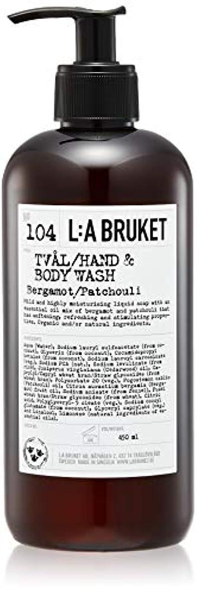 分注する筋荷物L:a Bruket (ラ ブルケット) ハンド&ボディウォッシュ (ベルガモット・パチョリ) 450g