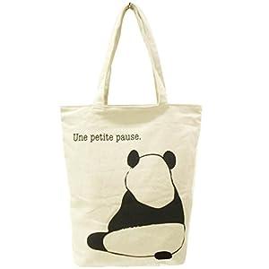 アニマルグラフィック トート バッグ (ファスナー付き) Panda アイボリー 620-6991