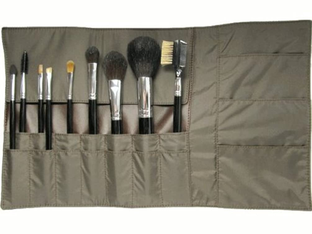メンバー洗剤神秘メイクブラシ9点セット & 携帯用化粧ポーチ 熊野筆 宮尾産業化粧筆 メイクブラシ MB101シリーズ