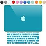 MS factory MacBook Air 11 ケース + 日本語 キーボード カバー ハードケース 全12色カバー RMC series マックブック エア 11.6 インチ Early 2015 対応 クリスタル スカイブルー 水色 RMC-SETA11XSK