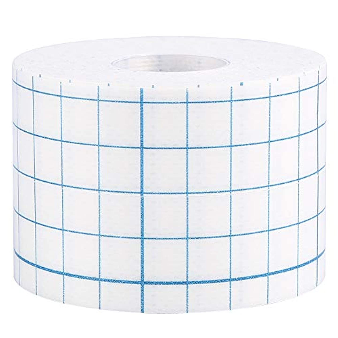 アジアブロック目に見える3サイズ1ロールプロフェッショナル不織布接着創傷ドレッシング医療用固定テープ包帯(5cm x 10m)