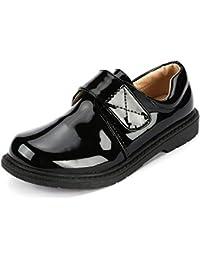 [snofiy] ローファー 学生 フォーマルシューズ キッズ 男子 男の子 子供靴 黒 シンプル ファッション 入学式 通学 結婚式 卒園式 発表会 演奏会