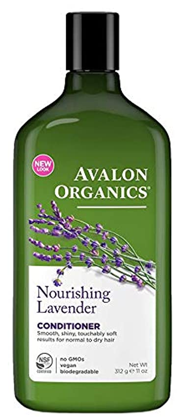 を除く図違反するAvalon Organics Lavender Nourishing Conditioner 325ml (Pack of 4) - (Avalon) ラベンダー栄養コンディショナー325ミリリットル (x4) [並行輸入品]