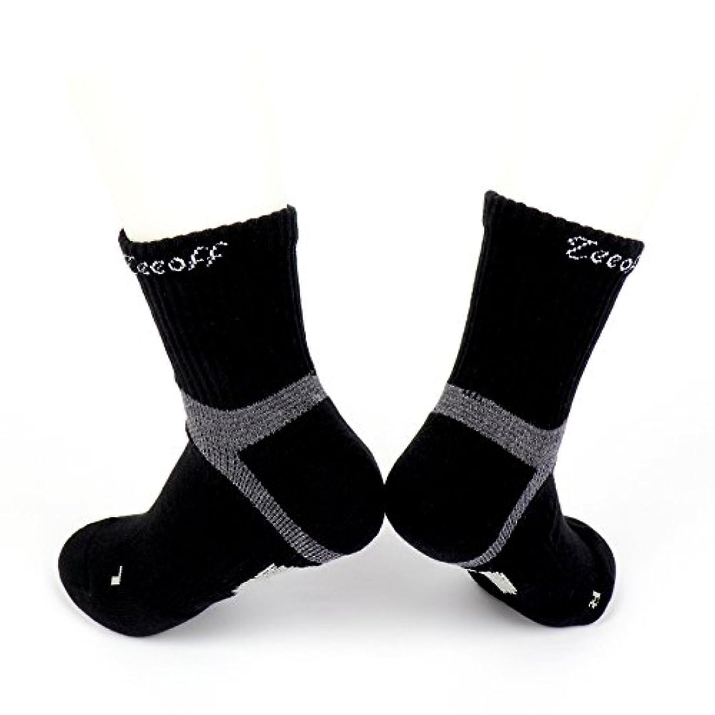 そこから減少教授Teeoff Men's LYCRA Sport Sock メンズライクラクッションショックアブソーバー、通気性、アーチ&アンクルサポートスポーツソックス強化