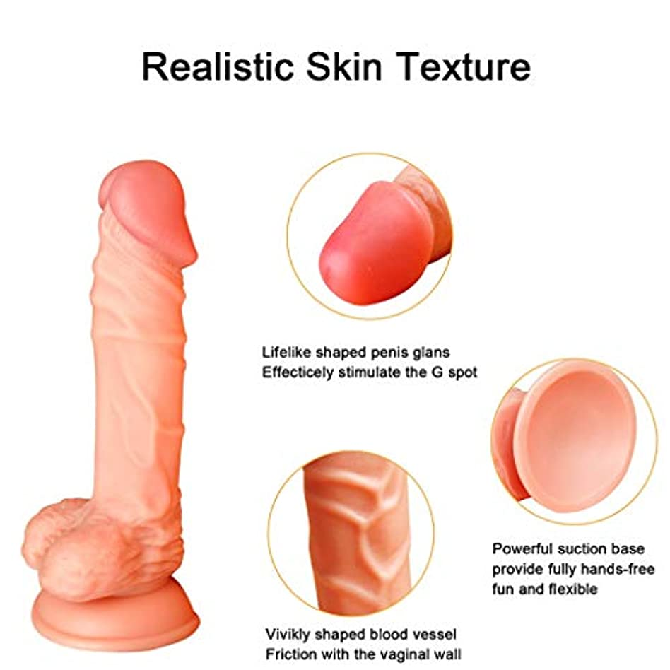オスのひな鳥 8.27in Huge Di'dl`o Female Relax Massager for Women男性用 (Color : Skin)