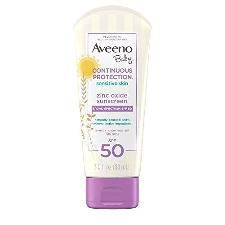 ボランティア連結する翻訳Aveeno Baby 広域スペクトルのSPF 50、涙フリー、Sweat-&耐水性、旅行、サイズ、3フロリダで敏感肌用のContinuous Protection酸化亜鉛ミネラル日焼け止めローション。オズ