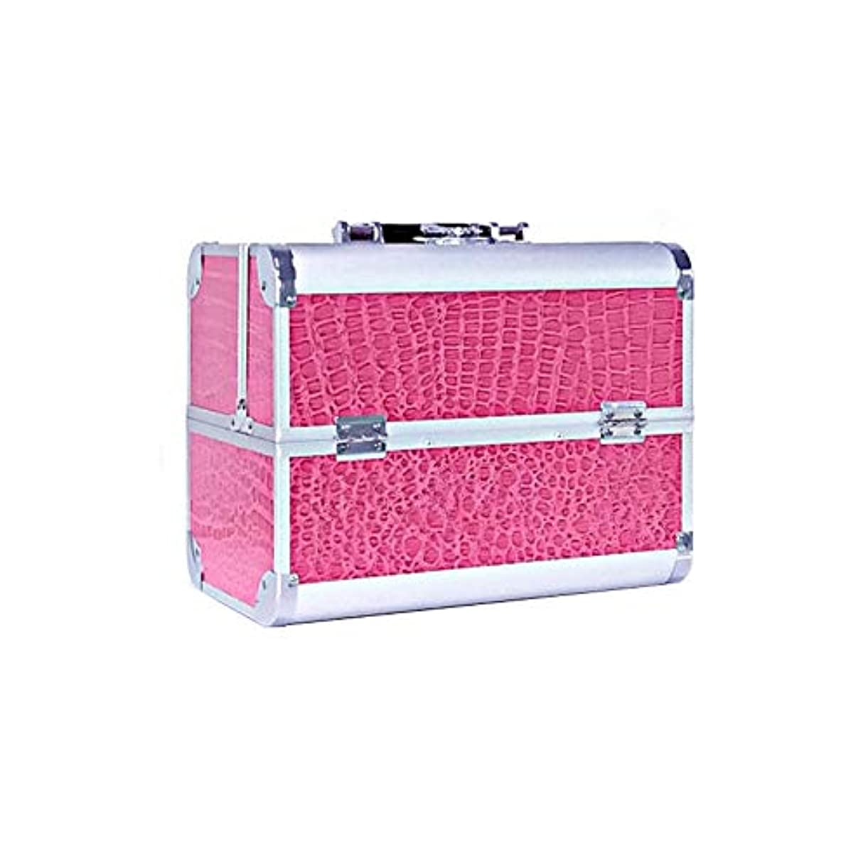 事実エキス虎メイクボックス プロ用 コスメボックス 化粧品箱 大容量 鍵付き ハンドル付き 持ち運び便利 ピンク アウトドア撮影 11色 機能的 収納 防水 アミル 美容師
