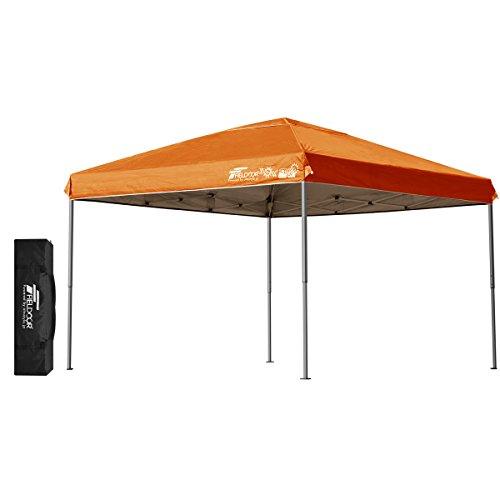 FIELDOOR 組立て簡単!! ワンタッチタープテント G03 軽量アルミフレーム 3.0m 【オレンジ】 風抜けベンチレーション 高耐水加工&シルバーUVカットコーティング 紫外線カット 遮熱