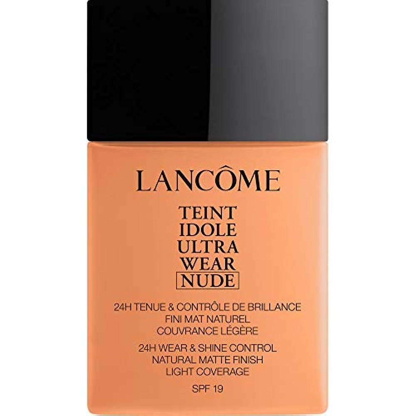 やりがいのある最大上昇[Lanc?me ] ランコムTeintのIdole超摩耗ヌード財団Spf19の40ミリリットル08 - キャラメル - Lancome Teint Idole Ultra Wear Nude Foundation SPF19...