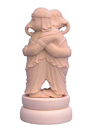 木彫仏像 歓喜天(聖天) 双身 立像 総高20cm 桧木