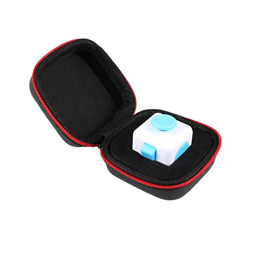 sinwoギフトfor FidgetキューブAnxiety Stress ReliefフォーカスDiceバッグボックスCarry Caseパケット( without Fidgetキューブ) -stressレリーフ、Killing Time XL ブラック q