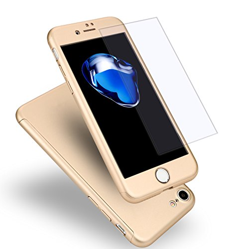 iPhone7 ケース 全面保護 強化ガラスフィルム 360...