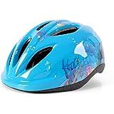 Outdoor Sports Children's Riding Helmet Boy Girl Bike Skateboard Pulley Roller Skates Balance Car with Light Helmet Equipment ; (Color : Blue Fish)