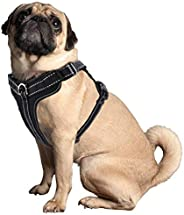 No Pull Dog Harness,Adjustable Outdoor Reflective Oxford Material Dog Vest for Medium Dogs,Easy Control Harnes